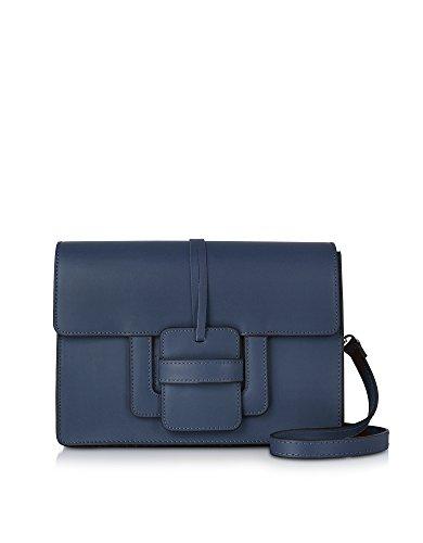 Borsa A Tracolla In Pelle Blu Per Donna Le Parmentier 018tracollanavy