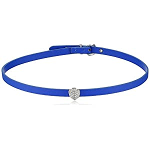 Vera Bradley Womens Versatile Choker Necklace, Silver Tone with Blue