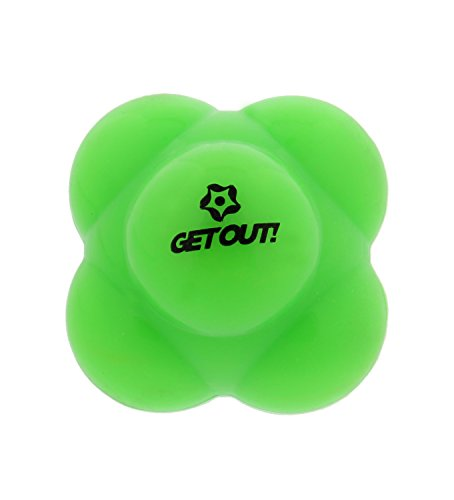 Get Out! Baseball Agility Reaction Ball - Developing Exceptional Hand-Eye Coordination in Lime Green