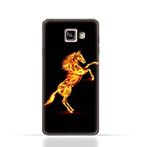 Samsung Galaxy A3 2016 TPU Silicone Case with Horse on Flame Design