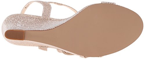 Touch Ups Women's Paige Wedge Sandal, Champagne Shimmer, 8 M US