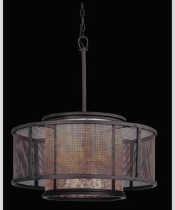 Troy Lighting F3105 Copper Mountain - Six Light Dining Pendant, Copper Mountain Bronze Finish with Silver Mica Glass (Copper Troy Pendant)