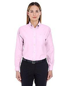 - Ultraclub 8990 UC Ladies Oxford Shirt - Pink - XL