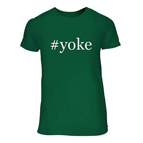 - #Yoke - A Nice Hashtag Junior Cut Women's Short Sleeve T-Shirt, Green, Large