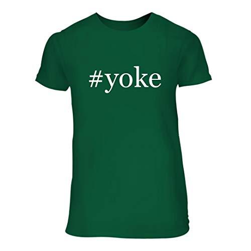 - #Yoke - A Nice Hashtag Junior Cut Women's Short Sleeve T-Shirt, Green, Large