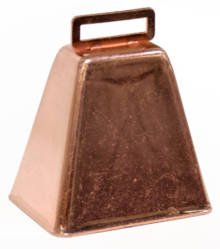 Team Spirit Set of 3 Copper Colored Metal Cowbells, Decorating and Events
