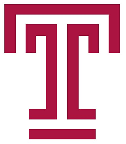 SellingDecals ncaa0026 Temple Owls Logo Classic Big T Die Cut Vinyl Graphic Decal Sticker NCAA Color Choice 8