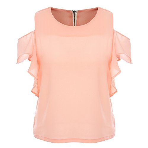 Off the Shoulder Chiffon Shirts Blouses for Women Fashion 2016 Green Mango Casual Solid Color Summer Crop Tops