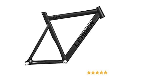 Amazon.com : Leader 725 Fixed Gear Track Frame (Black, 46cm ...