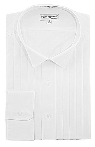 Fumagalli's Uomo 100% Cotton, Wing Collar, Tuxedo Shirt (Big & Tall) - - And Shirts Tuxedo Big Tall