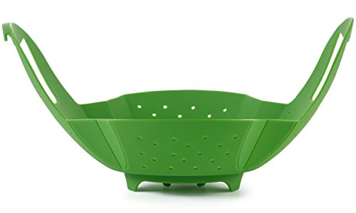 Insert Vegetable - Silicone Vegetable/Food Steamer Basket - Insert for Pots, Pans, Crock Pots & More... By Sunsella
