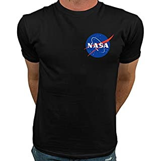 Market Trendz Official Logo NASA I Smaller Upper Left Chest Logo NASA T Shirts for Men
