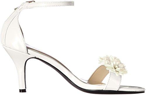 Annie Chaussures Femmes Robe Vivante Sandale Perle Blanc