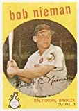 1959 Topps Regular (Baseball) Card# 375 Bob Nieman of the Baltimore Orioles Ex Condition