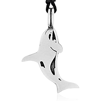 Amazon.com: Sterling Silver Killer Whale Pendant Synthetic