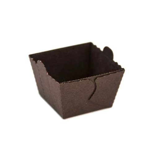 Novacart Easybake Brown Cube Mold with Tab (1440, 1-13/16'' x 1-13/16'' x 1-1/2'' high)