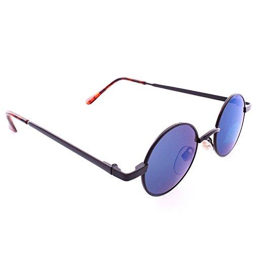 Frontier Fashion Retro Round John Lennon Style Sunglasses, (Hippie Outfits For Guys)