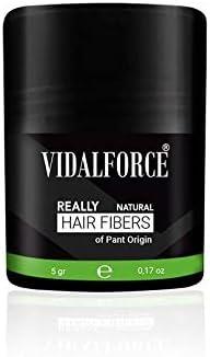 VidalForce, | Fibra Capilar 100% de origen Vegetal | Polvos voluminizador pelo - Hair building fibers - Polvo voluminizador cabello - Fibras capilares Café (5 gr): Amazon.es