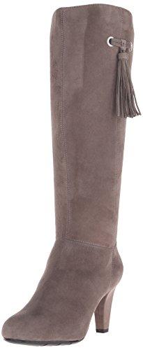 Bandolino Women's Bacia Suede Boot, Grey, 10 M US