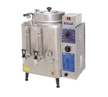 - Grindmaster Cecilware Coffee Brewer Urn, Double, Electric, (2) 6 Gallon Capacity Tanks - Specify Voltage
