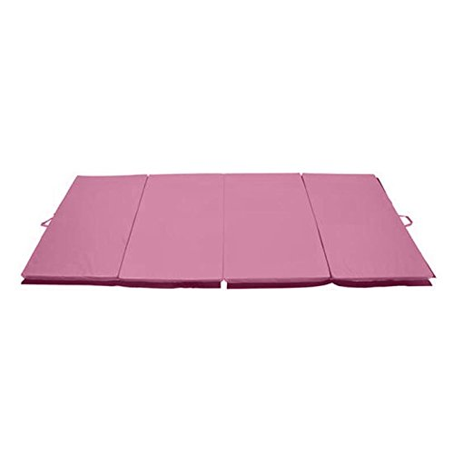 Gymnastics Mat 4' x 8' x 2''Martial Arts Aerobics Exercise Yoga Tumbling Pad Pink With Ebook by MRT SUPPLY
