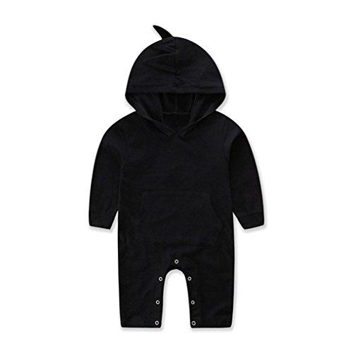 Newborn Sleeper Black - Shop the Look Memela(TM) NEW Fall/Winter Unisex Baby Layette Gift Set Rompers Hoodie Onesie (0-6 mos, Black)