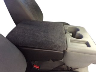 FORD F-250 SUPER DUTY 2002-2018 Truck Auto Center Armrest Cover Protects from Dirt and Damage Renews old damaged consoles. Fits the console that has the fold down middle seat. Dark Gray