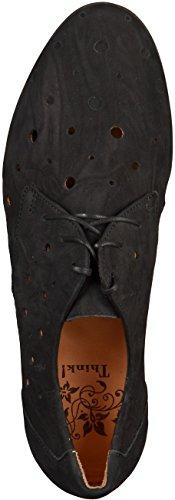 Think Wunda Schnürhalbschuh - Zapatos de cordones derby Mujer negro