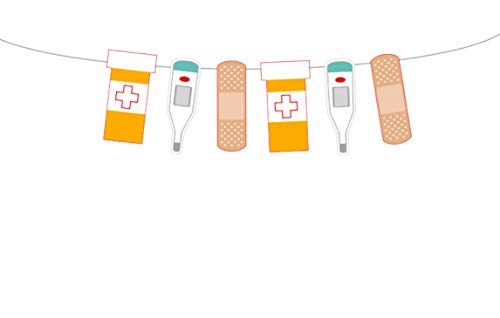 Banderín de enfermera de 5 pulgadas de alto, guirnalda de enfermera, banderín RN, guirnalda RN, graduación de enfermera,...