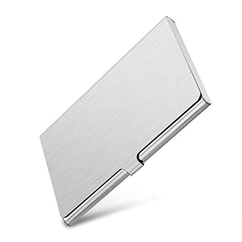 (Professional Business Card Holder Business Card Case Slim Design Stainless Steel Card Holders for Men & Women, Keep Business Cards in Immaculate Condition (Silver))