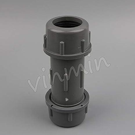 Amazon com : Kammas PVC 40 50mm Straight Connector Water