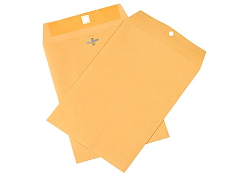 RetailSource E120901KC100 Kraft Clasp Envelopes, 12