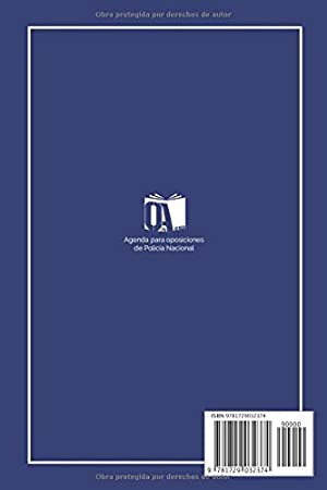 Agenda para Opos de Policía Nacional.: Agenda para Oposiciones de Policía Nacional 2019/2020