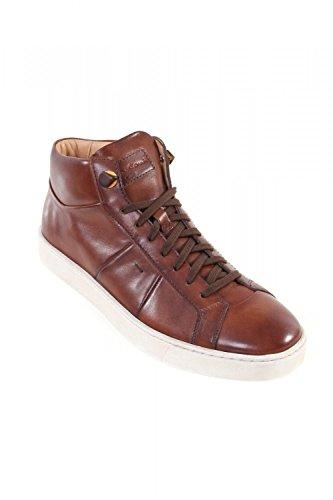 Santoni Herren Sneakers AMG 14398 Leder braun