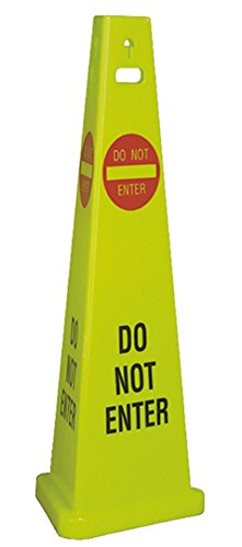 National Marker Corp. TFS304 Do Not Enter Trivu 3-Sided Safety Cone