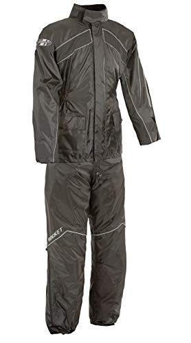 factory price release info on hot-selling official Joe Rocket RS-2 Men's Motorcycle Rain Suit (Black, Large)