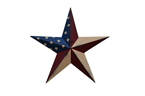 Cheap AMISH WARES 16 Inch Rustic Old Glory Flag Star Made with Galvanized Metal to Prevent Rusting. American Handcrafted – Made in the USA!