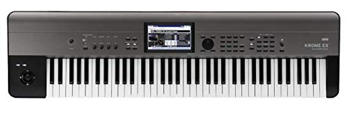 [해외] KORG 키보드 신디사이저 KROME EX 크롬 73 건음악 제작 스테이지 라이브 퍼포먼스 컬러 터치 패널 탑재