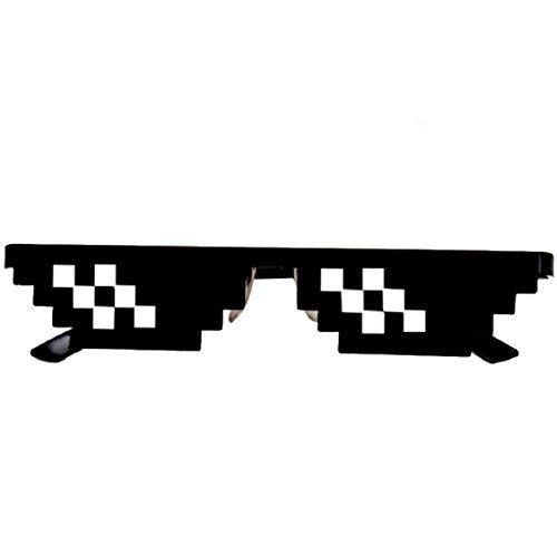 Naladoo Thug Life Glasses 8 Bit Pixel Deal With IT Sunglasses Unisex Sunglasses Toy - Life Glasses Thug