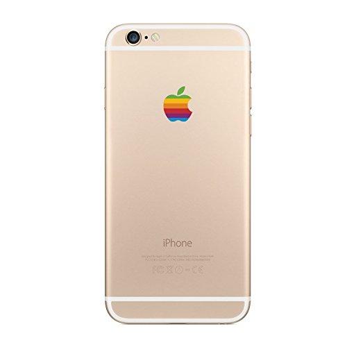 Retro Rainbow Apple iPhone Sticker product image