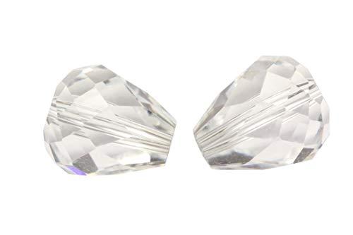24pcs 12x10mm Adabele Austrian Teardrop Crystal Beads
