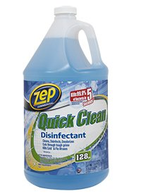 Zep ZUQCD128 Quick Clean Disinfectant 128 Ounces