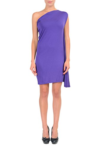 Maison Martin Margiela MM6 Purple One Shoulder Women's Stretch Dress US M IT 42; (Martin Women Margiela Dresses)