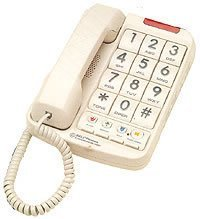 Large Number Telephone (Northwestern Bell Big-Button Corded Phone Plus with 13-Number Memory)