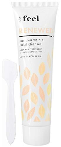 Feel Renewed Pumpkin Walnut Facial Cleanser Travel Size (Free Facial Spatula Included)