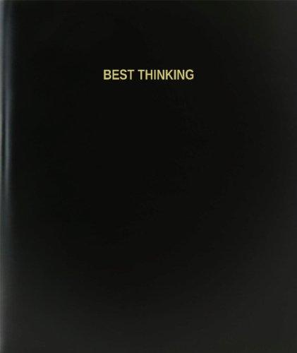 BookFactory Best Thinking Log Book / Journal / Logbook - 120 Page, 8.5''x11'', Black Hardbound (XLog-120-7CS-A-L-Black(Best Thinking Log Book)) by BookFactory