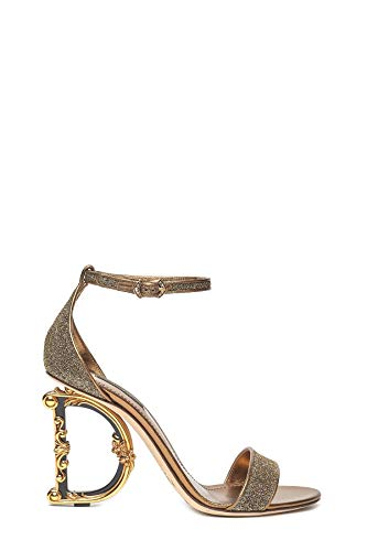 Dolce e Gabbana Women's Cr0739az5248d919 Gold Leather Sandals