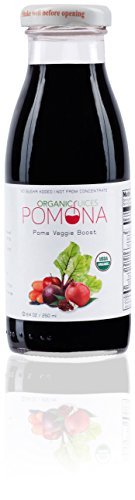 Pomona Organic Pomegranate Boost Juice, 8.4 Ounce (Pack of 12) not from concentrate gmo free kosher