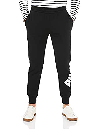 PUMA Men's Big Logo Pant, Cotton Black, S