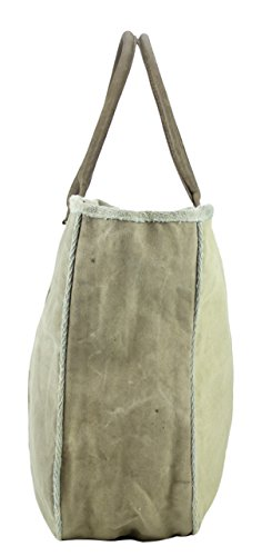 Sunsa Damen Vintage Tasche Canvas Schultertasche Handtasche Strandtasche 48x39x14 cm